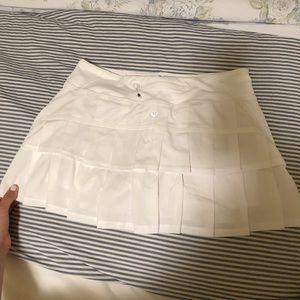 White Lululemon skirt size 6